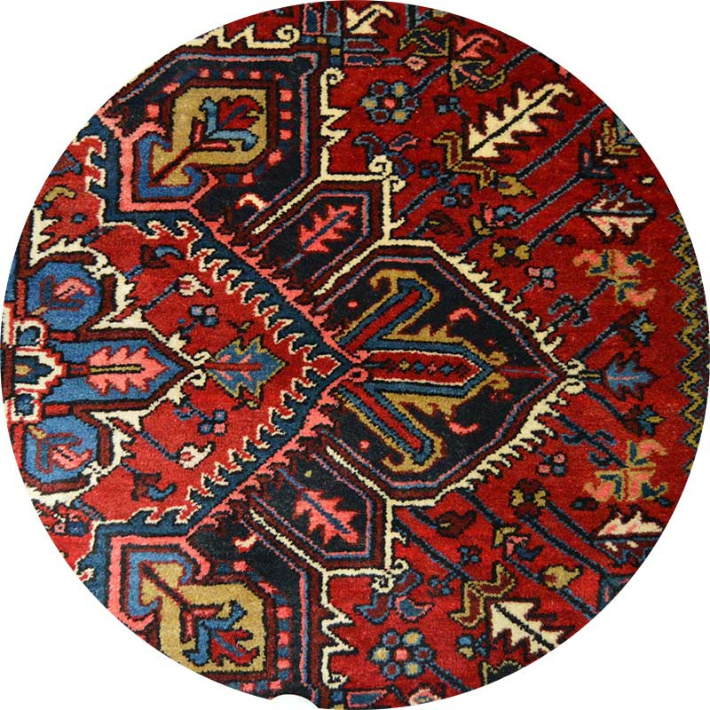 Colorful heirloom oriental area rug. Trust only professionals with your valuable rugs when getting them cleaned.