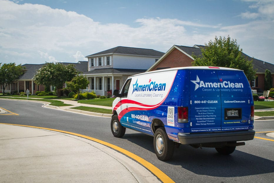AmeriClean Van in transit to a residential customer