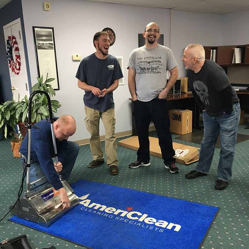 AmeriClean employees on training day