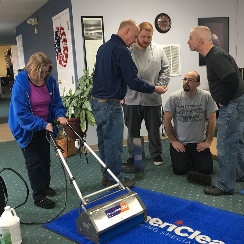 AmeriClean employees training in Hagerstown, MD.