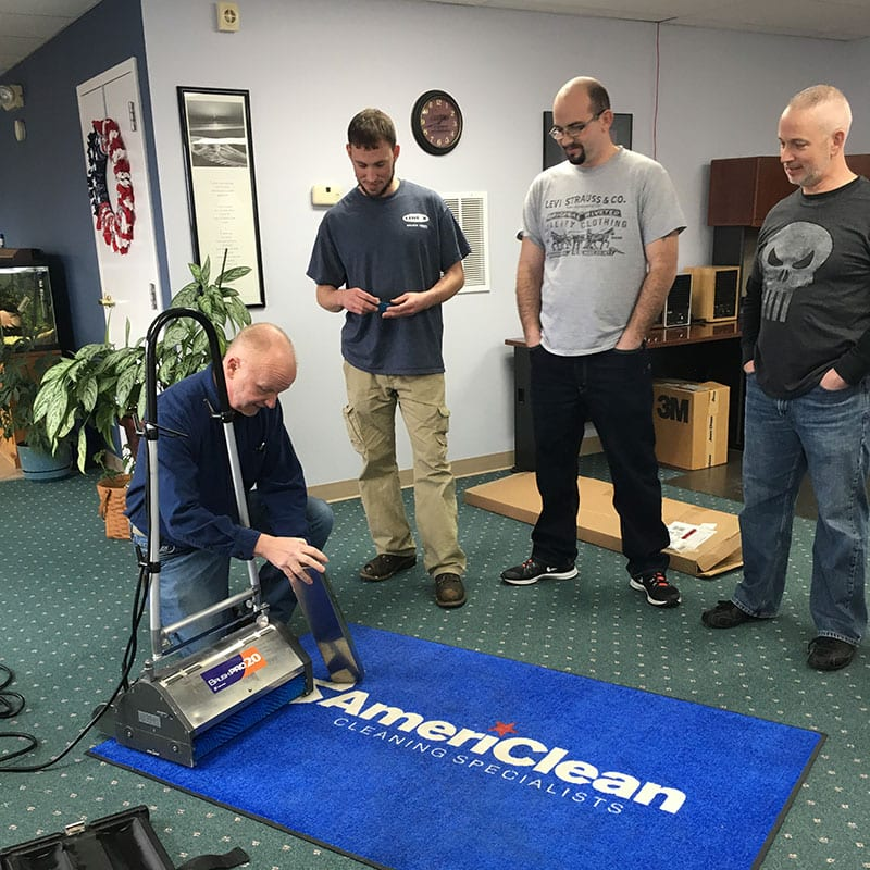Employees training at AmeriClean Cleaning Specialists