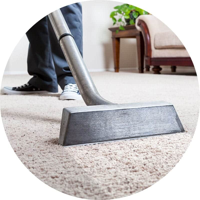 Professional removal of dirt and stains in carpet by AmeriClean Cleaning Specialists.