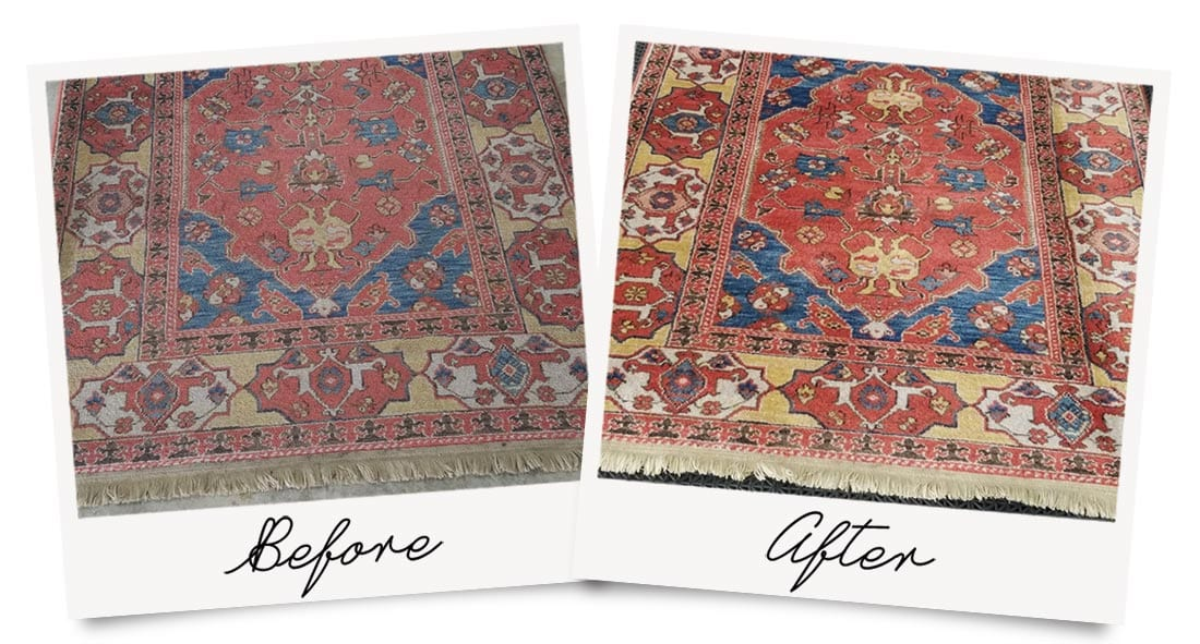 Oriental Rug Cleaning before and after photo