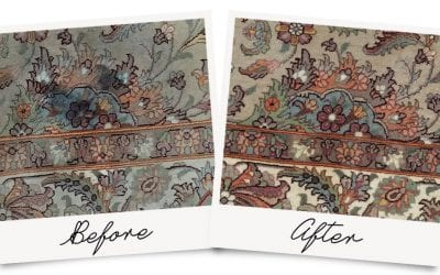Ink Stain Removed from Oriental Rug