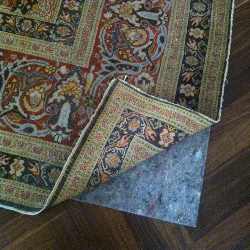 Rug padding, protecting as well as maintaining an area rug.