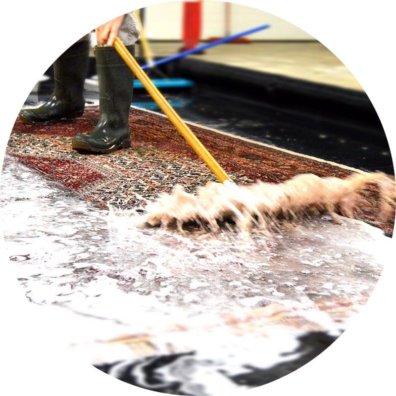 Rug Washing, bringing a rug back to life