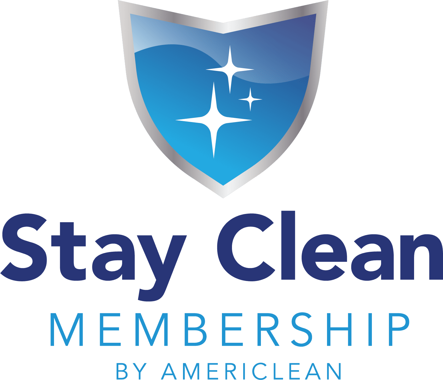 Stay Clean Membership Logo. Get your carpets, hardwood flooring, tile, upholstery and area rugs cleaned on a regular schedule for less!