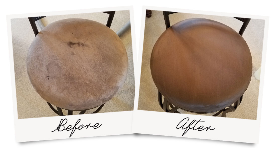 Steam Cleaning Upholstery Before and After Photo